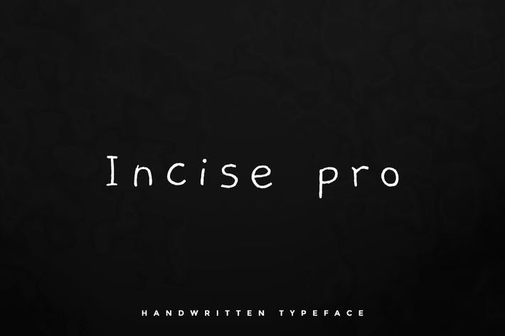 Thumbnail for Incise pro - Handwritten typeface + Webfont