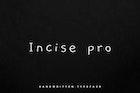 Incise pro - Handwritten typeface + Webfont