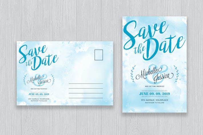 Thumbnail for Speichern Sie das Datum Postkarte