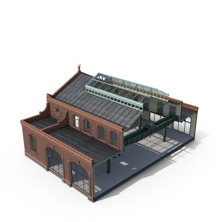 Antiguo edificio industrial Recorte modular interior y exterior