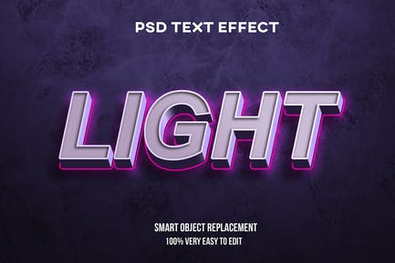 Realistic Light on wall text effect