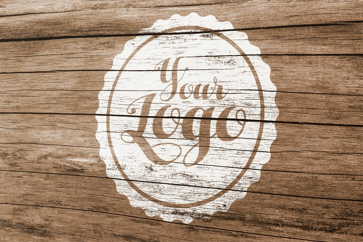 Thumbnail for Wood Logo Mockup 002