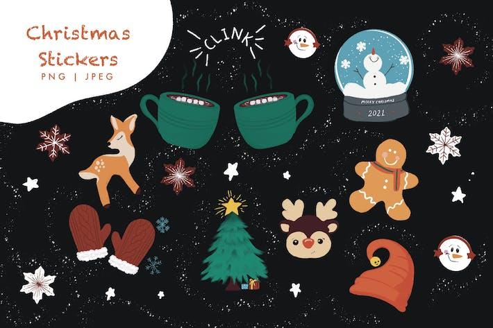 Weihnachts-Sticker