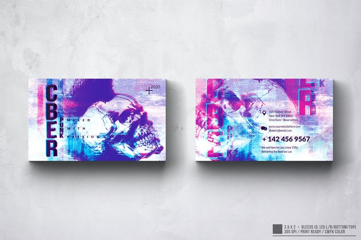 Cyber Punk Business Card Design