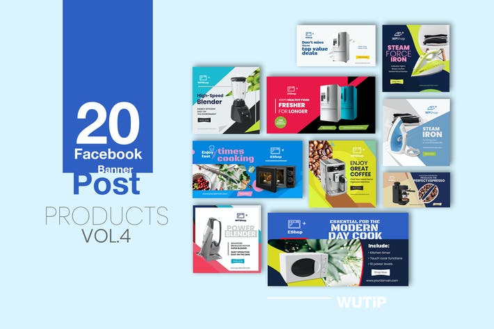 Thumbnail for 20 Facebook Post Banner - Products Vol 04
