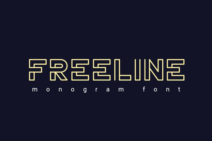 Thumbnail for Freeline Font
