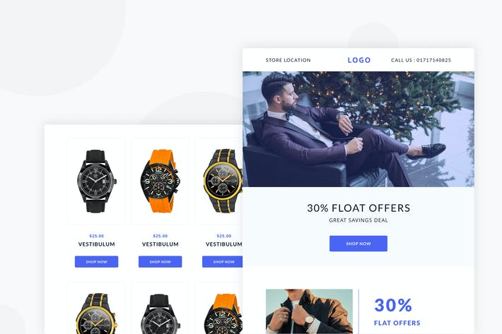 Thumbnail for Watch Shop - Email Newsletter
