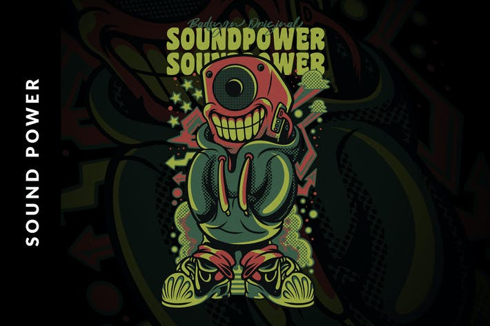 Cover Image For Sound Power Illustration