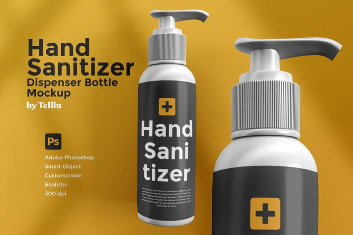 Thumbnail for Hand Sanitizer Dispenser Bottle Mockup