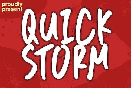 Quick Storm Font