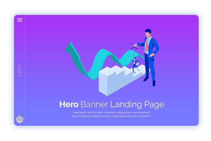 Thumbnail for Dirig - Hero Banner Template
