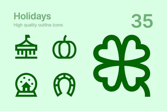 Thumbnail for Holidays icons