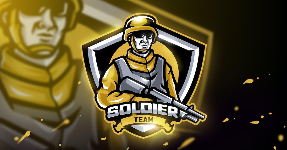 Download Soldier Team - Mascot & Esport Logo by aqrstudio