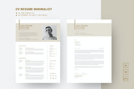Creative and Professional Resume template