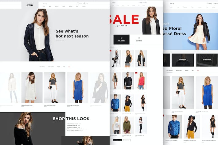 Thumbnail for Voux Fashion Shopping Theme
