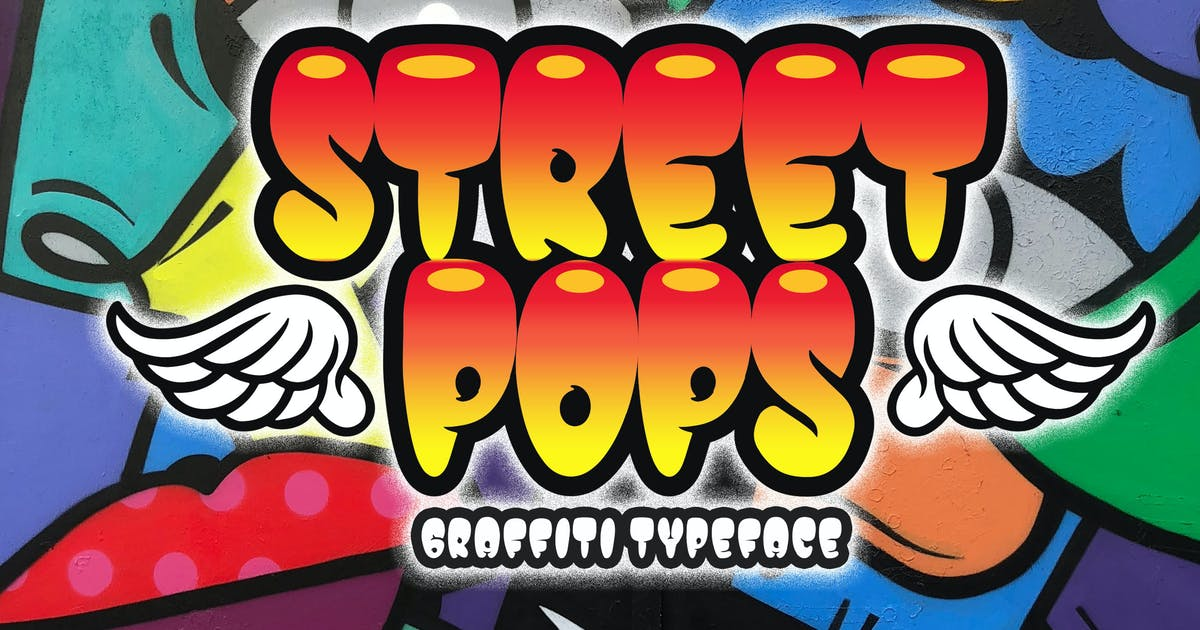 Download Street Pops - Graffiti Typeface by Blankids