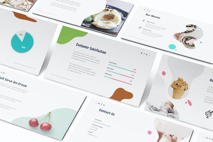 Thumbnail for Ice Cream Google Slides Template