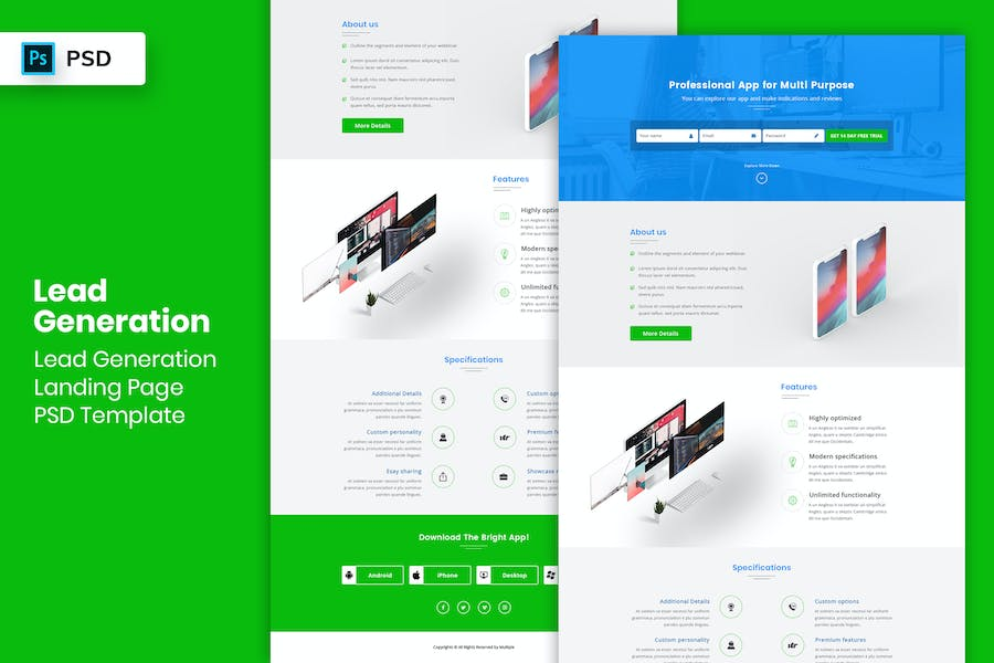 Lead Generation - Landing Page PSD Template-01
