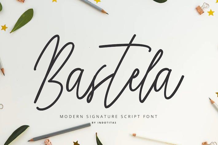 Thumbnail for Bastela Signature Font