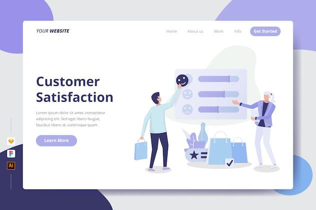 Customer Satisfaction - Landing Page