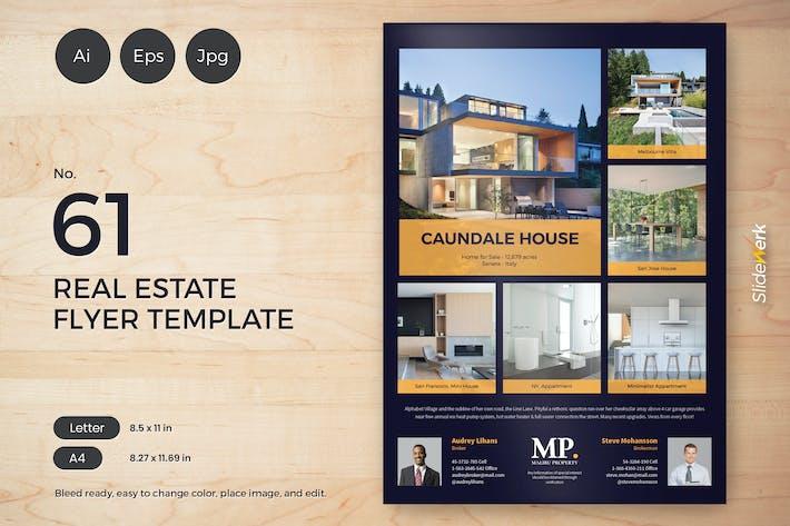 Thumbnail for Real Estate Flyer Template 61 - Slidewerk