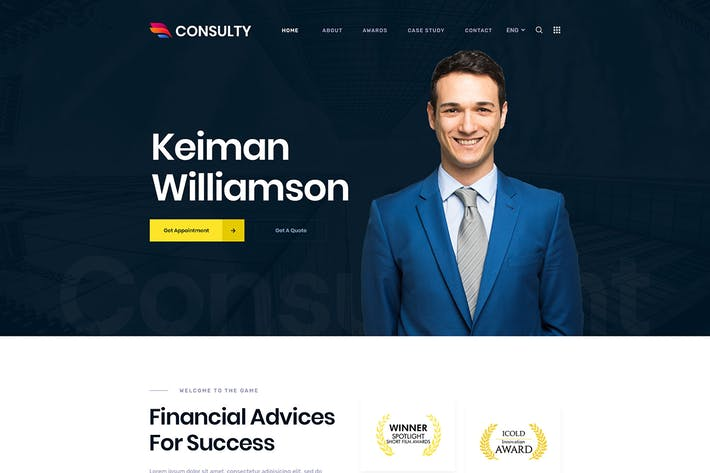 Thumbnail for Consulty - Finance Consulting and Insurance HTML T