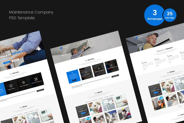 Thumbnail for Maintenance PSD Template