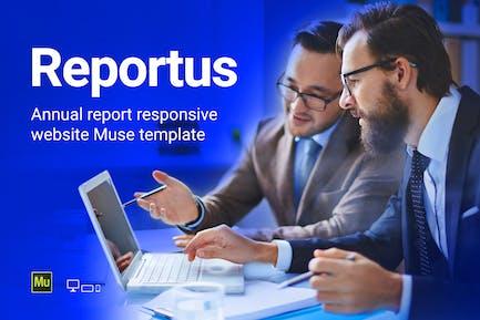 Reportus - Ежегодный отчет Отзывчивый Шаблон муз