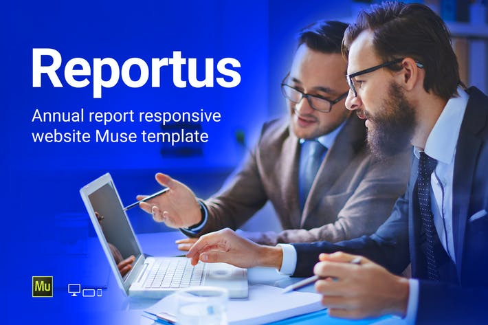 Thumbnail for Reportus - Annual Report Responsive Muse Template