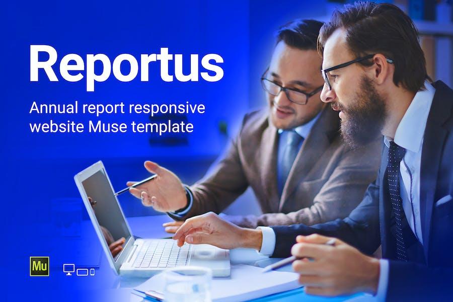 Reportus - Annual Report Responsive Muse Template