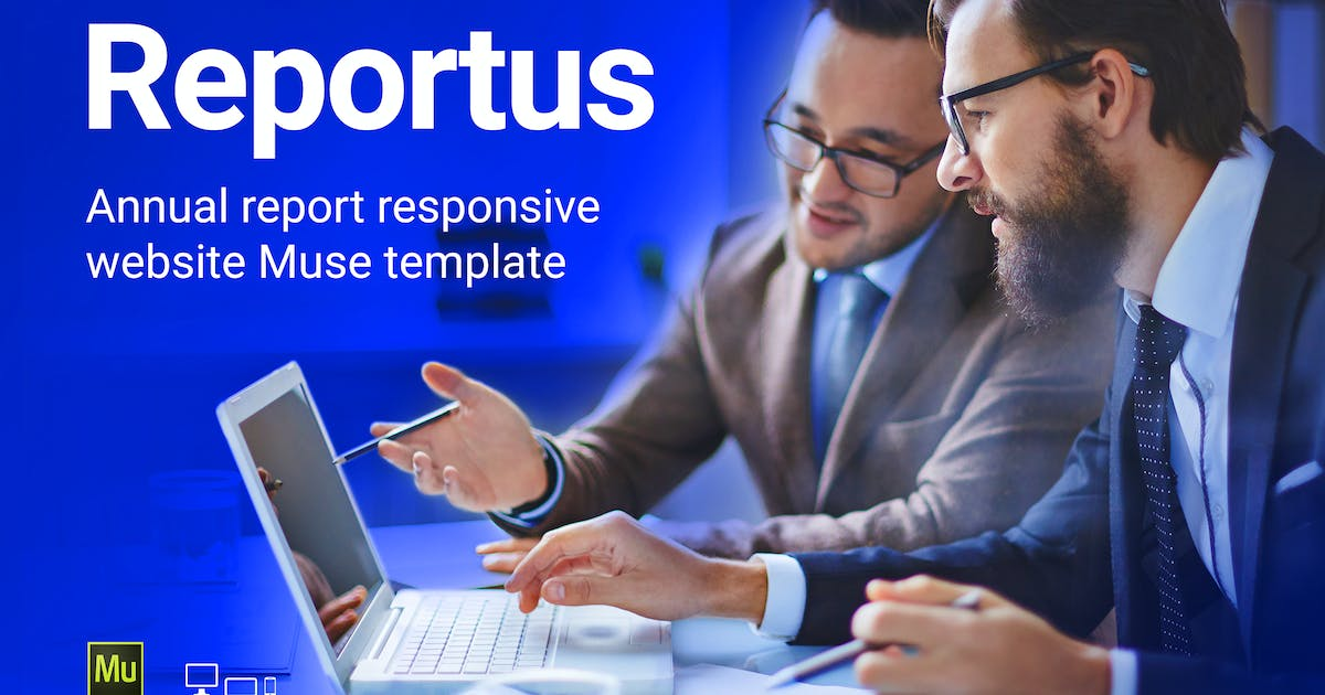 Download Reportus - Annual Report Responsive Muse Template by vinyljunkie