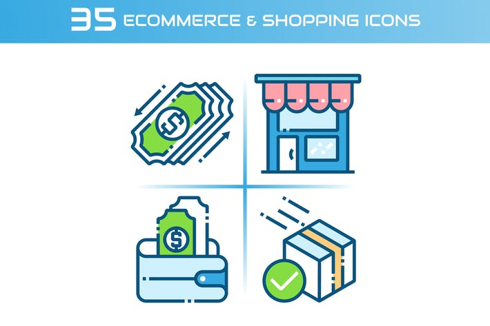 Thumbnail for E-commerce and Shopping Icons