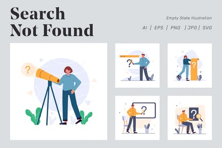 Search Not Found Illustration for Empty state