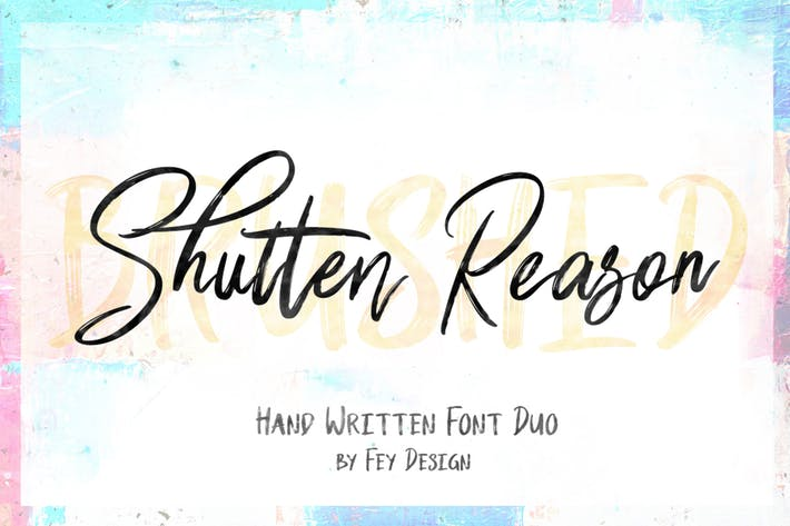 Thumbnail for Shutten Reason - Duo Handwritting Brush Font
