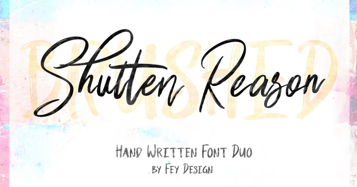 Download Shutten Reason - Duo Handwritting Brush Font by Voltury