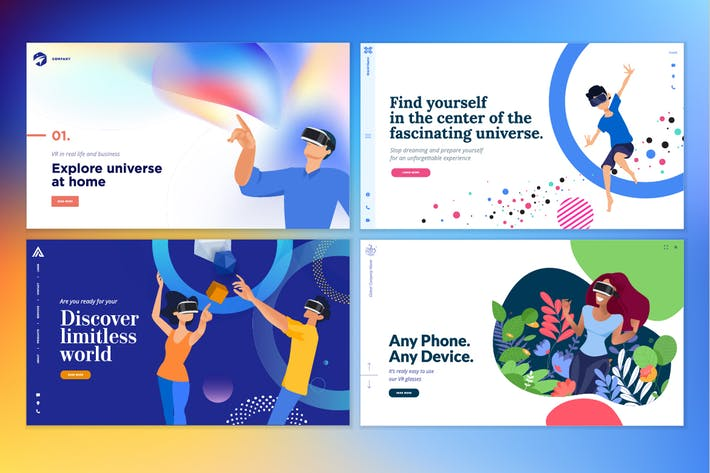 Thumbnail for Web design templates of virtual reality