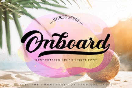 Onboard   Smooth Script Font
