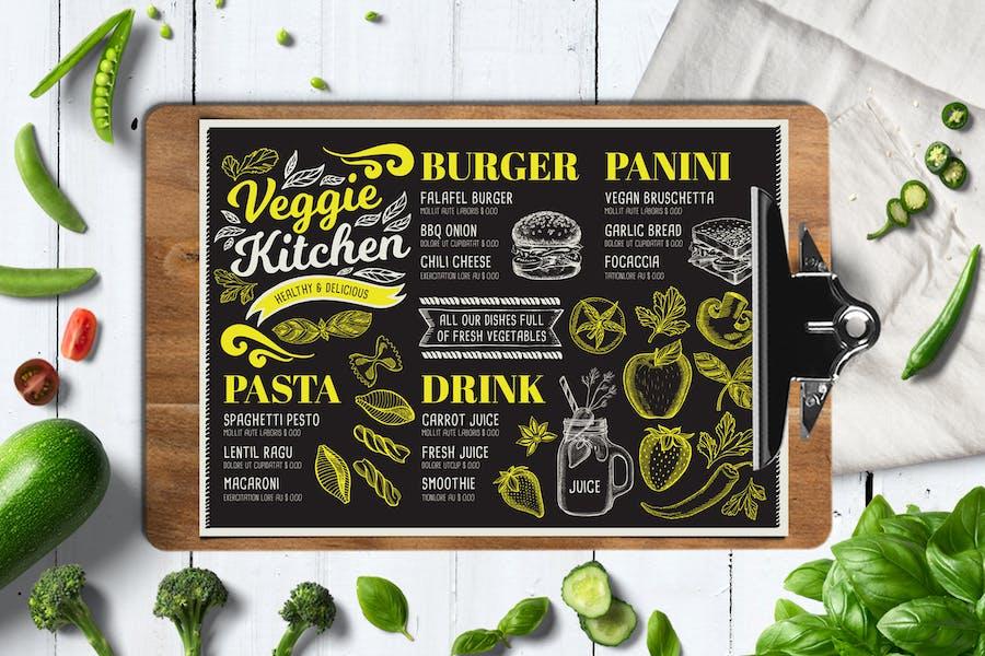 Vegan Food Menu Template Design