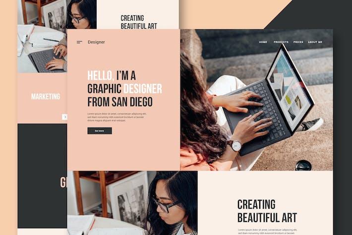 Thumbnail for Freelance Designer - Website