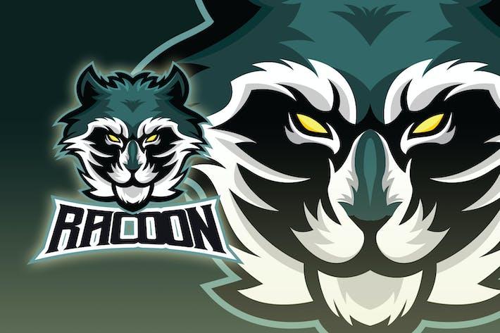 Racoon Head Esport Logo