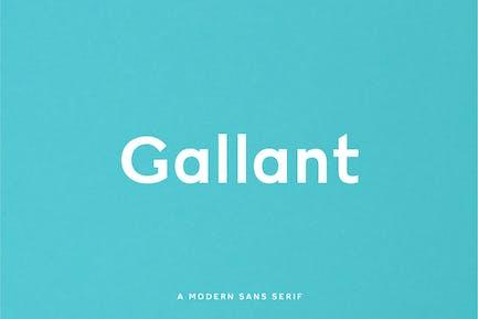 Gallant - A Geometric Typeface