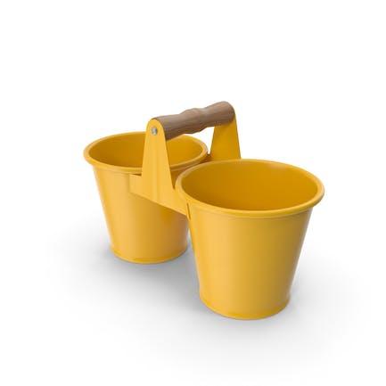 Twin Pot Yellow