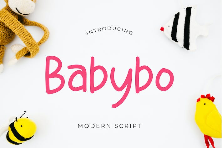 Thumbnail for Babybo Cute Display Font