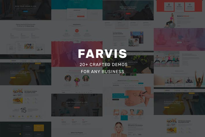 Thumbnail for Farvis - Multipurpose WordPress Theme