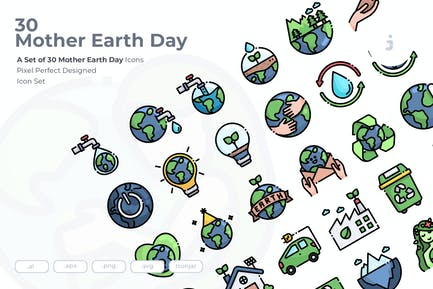 30 Mother Earth Day Icons