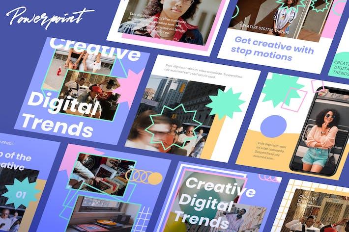 Thumbnail for Творческий цифровой маркетинг 2021 Instagram PPT
