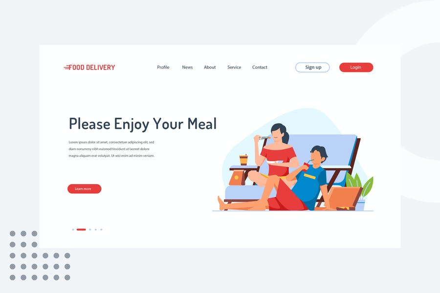 Please enjoy your meal Landing Page