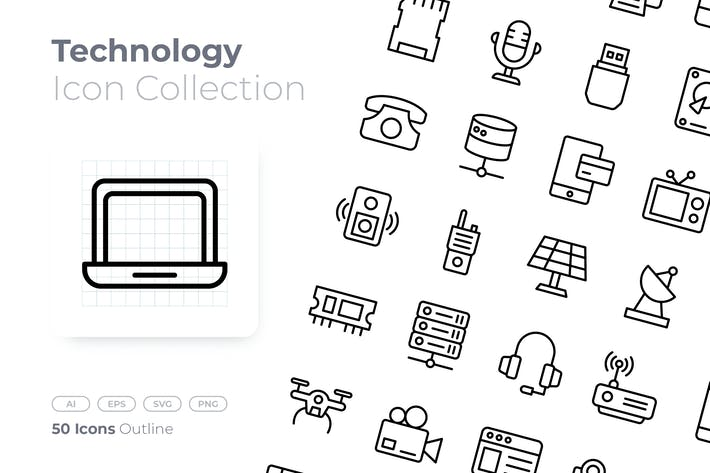 Technology Outline Icon