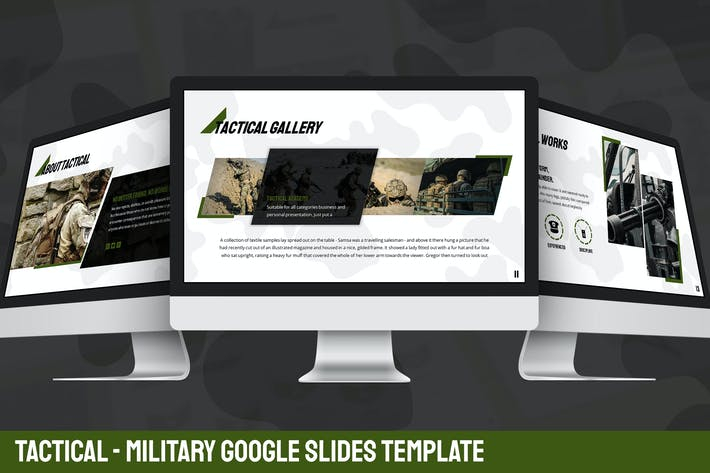 Thumbnail for Tactical - Military Google Slides Template