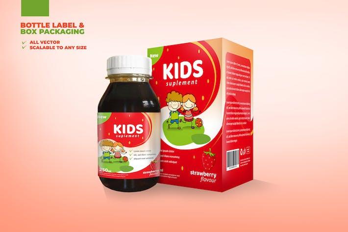 Thumbnail for Medical / Supplement Packaging Set Bottle Label